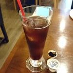 石窯ピザ Manten - Manten @ときわ台 ランチにサービスで付くコーヒーはアイスでお願い