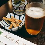 水前寺東濱屋 - 蒸し上がるまでビール