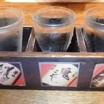 札幌銀鱗 - 北海道日本酒三点
