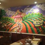 ガーリック・ジョーズ - 店の壁の絵