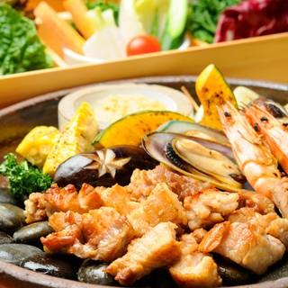 一番人気の新鮮野菜とサムギョプサル