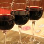 北の国バル - 赤ワイン飲み比べ(。≖ิ‿≖ิ)ニヤリ