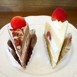 ケーキアンドカフェシャロン - 生チョコショート&ショートケーキ