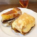 ケーキアンドカフェシャロン - アップルパイ&クレープファンタジー(中はバナナと栗)