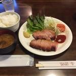 グリンデル - ベーコンステーキ定食1.150円