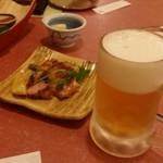 あみ焼割烹幸だるまなごみ - ビールが旨いっ!