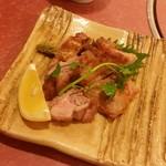 あみ焼割烹幸だるまなごみ - 「名古屋コーチン塩焼 (980円)」、名古屋コーチンの味わいがハッキリわかって美味