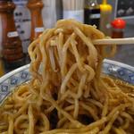 ラーメン 盛○ - 丸山製麺製の半ボキ角断麺(2016年9月5日)