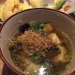 Foods bar 栞屋 - くじ引きおまけの揚げ出し豆腐とナス
