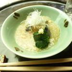 懐石料理 桝田 - 野菜の蟹あんかけ