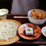古窯庵 - 丼ものそば膳(1,280円)