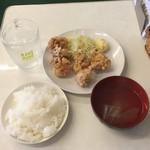 らんまん食堂 - 唐揚げランチ塩650円