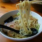 らぁめん 喜乃壺 - 細麺(低加水ストレート細麺)