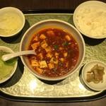 中国料理 季香園 - 麻婆豆腐セット激辛、780円です。