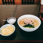 55753751 - 鶏肉米線+チャーハン、タピオカミルク