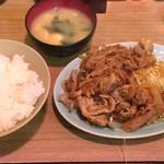 55755715 - 生姜焼き定食 750円