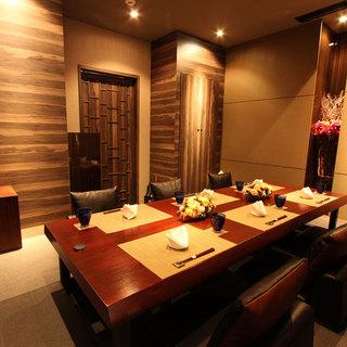 お祝い事やご接待に最適な掘りごたつ式VIP個室