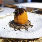 レストラン ローブ - 土佐ジロー卵 黒トリュフ