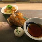 日本酒 肴 月 - かますのからすみ焼き