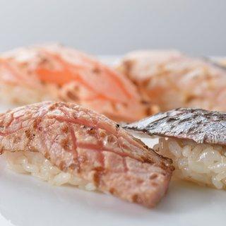 新鮮な魚を炙って更に美味しく
