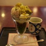 華屋与兵衛 - 栗抹茶パフェ(¥609)