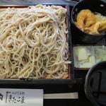 きたこま - ミニ天丼セット 830円