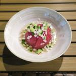 恵比寿 箸庵 - 鮪の削り節で楽しむトマト