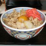 吉野家 - 豚丼並 330円+卵 60円