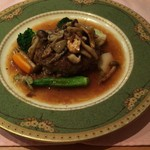 55772158 - サービスランチの肉料理(ハンバーグ)
