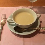 55772163 - サービスランチのスープ