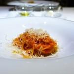 TN - トマトソースと24カ月熟成パルミジャーノチーズの  シンプルなスパゲティーニ