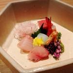 箱根強羅 白檀 - お作り 鮪 才巻き海老 あおりいか いさき ひらまさ