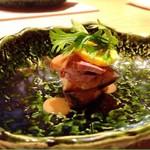 箱根強羅 白檀 - 焼物 あかぎ黒牛ロースト 馬鈴薯ソース 賀茂茄子 ズッキーニ