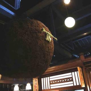 原田酒造場と言えば特大★杉玉★が目印!名物の杉玉をぜひ一度♪