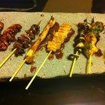 5578141 - うなぎの串いろいろ。初めて食べたものもありましたがどれも美味!いや珍味!?