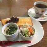 ユートピア - 料理写真:ブレンドコーヒー400円と小倉トーストのモーニング