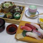 一福寿司 - 特選握り定食1944円。