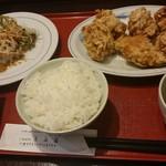 匯満楼 - 若鶏肉の唐揚げ定食