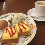 すばる珈琲店 - ブレンドコーヒー380円とエッグトーストのモーニング