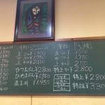 55810529 - 黒板のメニュー