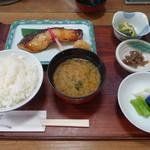 京粕漬 魚久  - 銀だら粕漬け定食