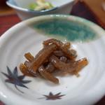 京粕漬 魚久  - 炒めたこんにゃく