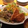 炙りや TOBIKIN 高本 - 料理写真:日替ランチ 【豚肉高菜炒め】と【まぐろメンチかつ】