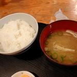 55814797 - ご飯・味噌汁セット 250円