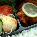 料理亭 - 2016.09再訪問 鶏唐揚げ弁当のアップ
