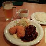 バンビ - Bセット+生ビールセット1210円