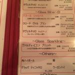 Tempters Pizza+Bar - 白ワインメニュー