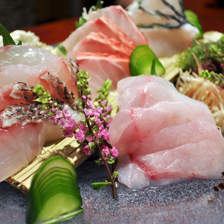 沖縄本島から旬鮮魚を直送してご提供♪