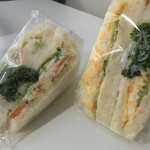ナカヤ - サンドイッチ(ポテトサラダ・タマゴ)各200円プラス税