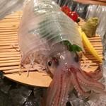 昭和食堂 - イカの活け造り
